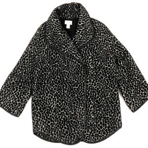 Chicos | Women's Animal Print Jacket 3/4 Sleeve